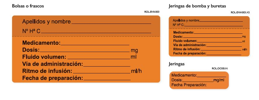 imagen etiquetas de identificacion via parenteral antineoplastiocos